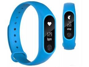 Inteligentní fitness náramek M2, OLED display - Modrá