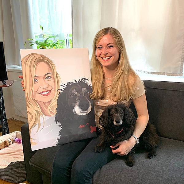Recenze na portrét psa