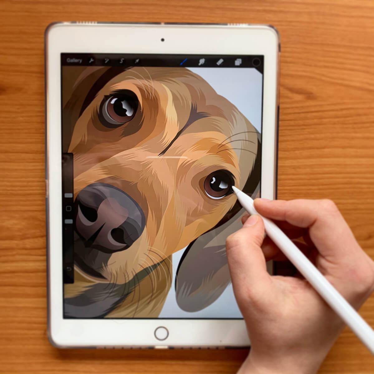 Jak to funguje - postup tvoření psích portrétů