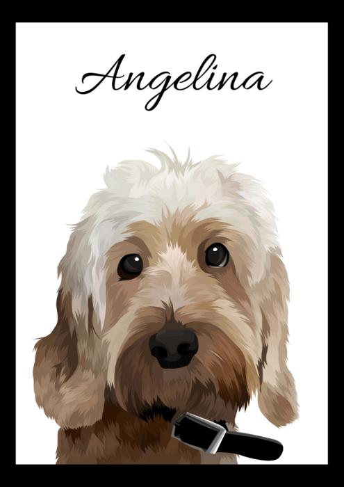 Moderní portrét psa