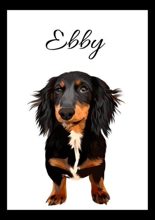 Digitálně malovaný portrét psa