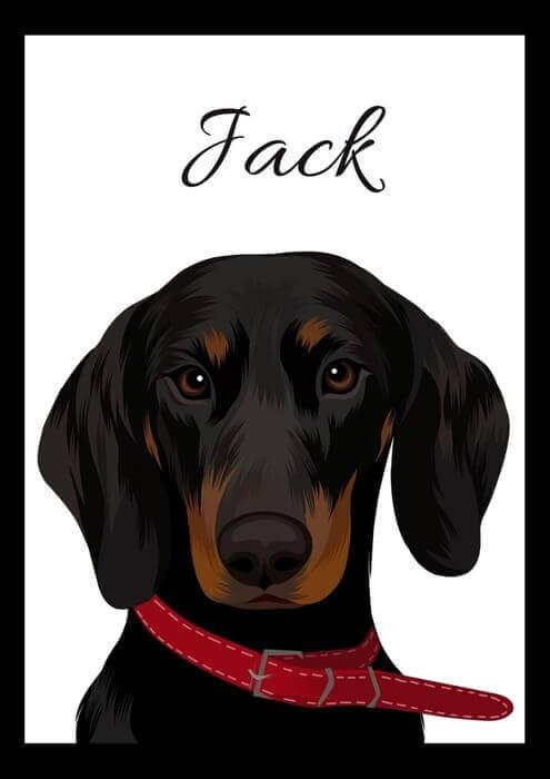 Grafický portrét psa