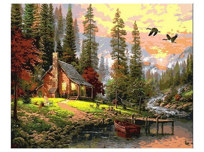 2019 09 29 11 21 44 BAISITE DIY Framed Oil Painting By Numbers Landscape Pictures Canvas Painting Fo