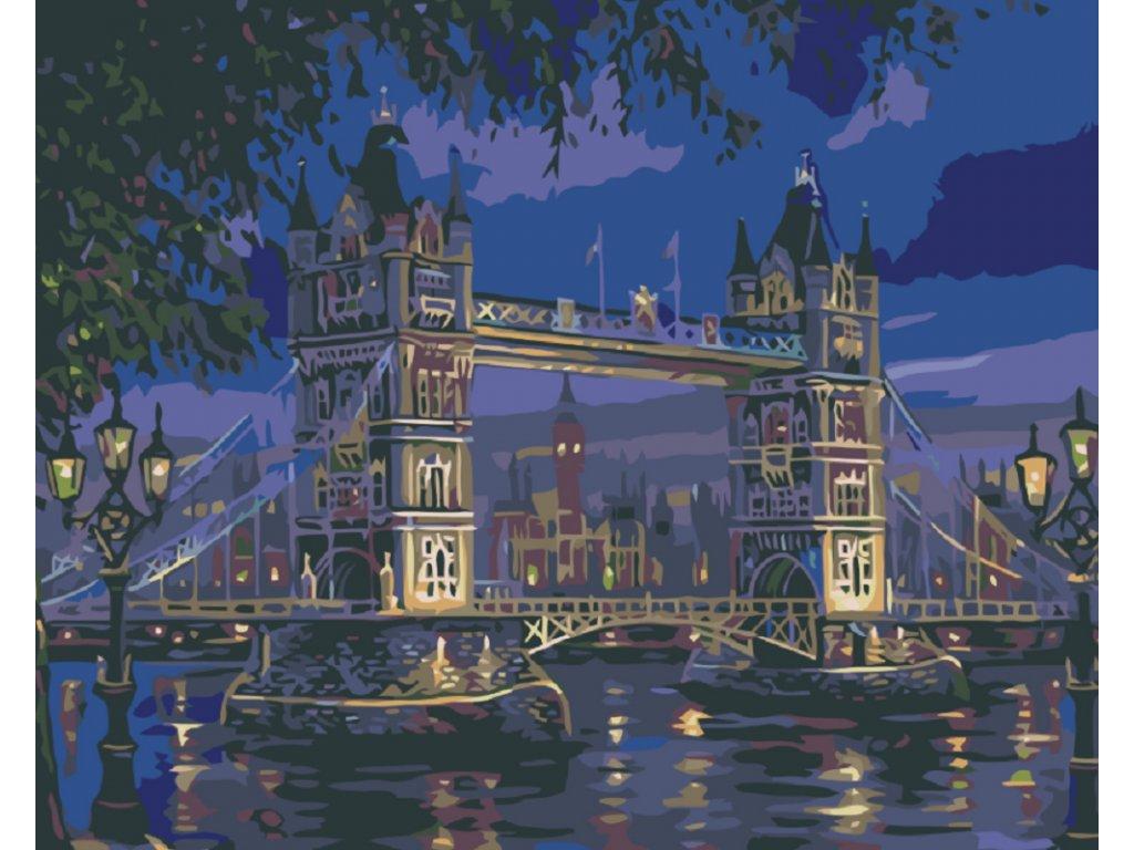 Malování podle čísel - TOWER BRIDGE V NOCI