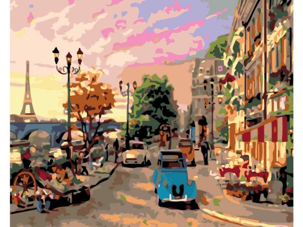 malování podle čísel ULICE V PAŘÍŽI