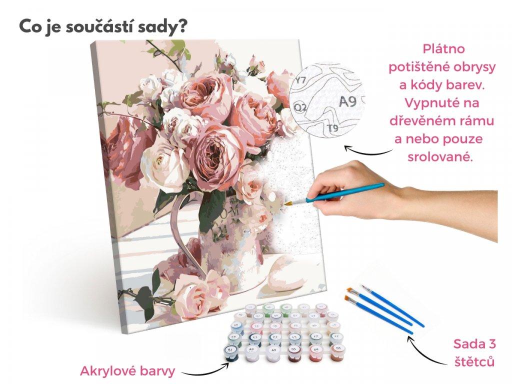 Malování podle čísel - OBRAZY OD JANY  Roudnice nad Labem (Rozměr 80x100 cm, Rámování vypnuté plátno na rám)
