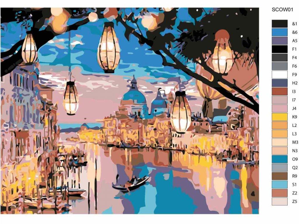 Malování podle čísel - LAMPIONOVÁ NOC V BENÁTKÁCH