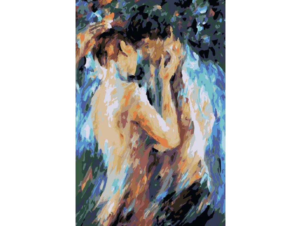 Malování podle čísel - ROMANTICKÝ POLIBEK