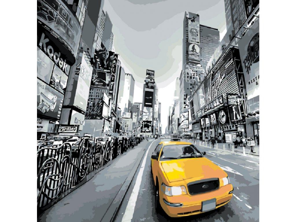 Malování podle čísel - TAXI V NEW YORKU