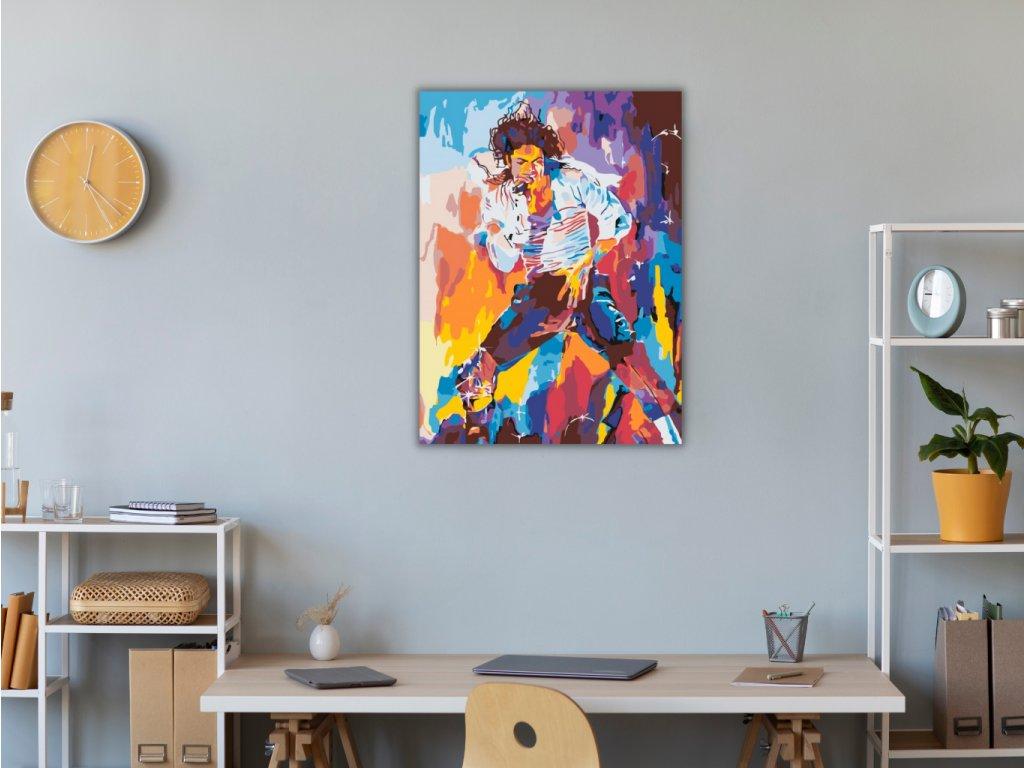 Malování podle čísel - MICHAEL JACKSON