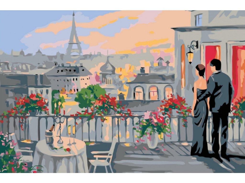 Malování podle čísel - POHLED NA PAŘÍŽ