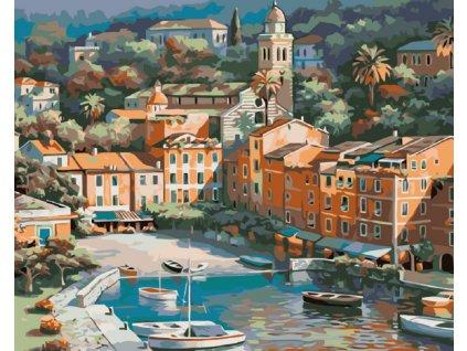 Malování podle čísel - MALÉ ITALSKÉ MĚSTEČKO