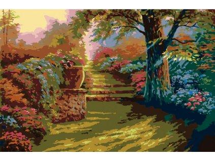 Malování podle čísel - ROMANTICKÁ ZAHRADA