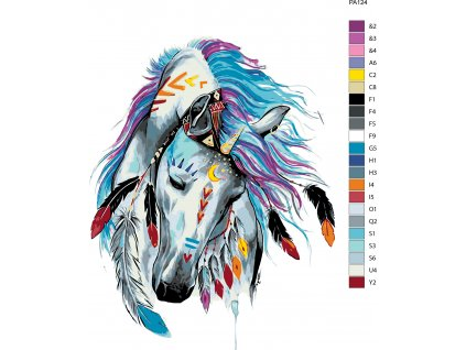 Malování podle čísel - INDIÁNSKÝ KŮŇ