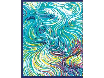 Malování podle čísel - VLNY (Rámování vypnuté plátno na rám, Rozměr 80x100 cm)