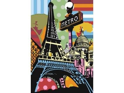 Malování podle čísel - VESELÁ PAŘÍŽ (Rámování vypnuté plátno na rám, Rozměr 80x120 cm)