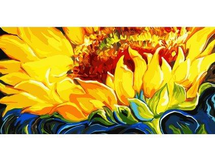 Malování podle čísel - VELKÝ KVĚT SLUNEČNICE 50X100 (Rozměr 50x100 cm, Rámování bez rámu a bez vypnutí plátna)