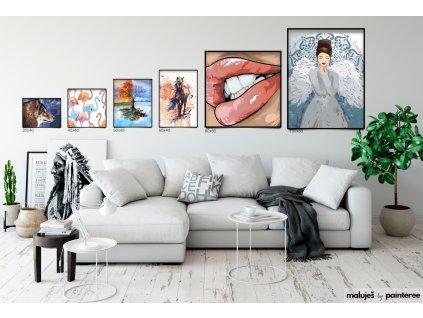Malování podle čísel - TANEC V BOUŘI (Rozměr 80x100 cm, Rámování bez rámu a bez vypnutí plátna)