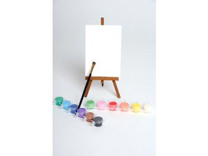 Malování podle čísel - ČISTÉ NEPOTIŠTĚNÉ PLÁTNO + SADA BAREV (Rozměr 40x60 cm, Rámování vypnuté plátno na rám)