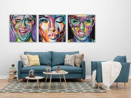 Malování podle čísel - POMALOVANÁ DÍVČÍ TVÁŘ