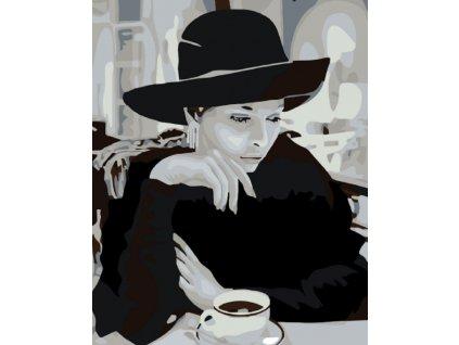 Dáma v klobouku s kávou1