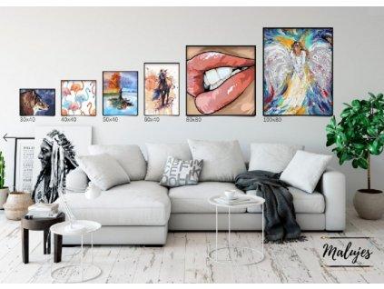 Malování podle čísel - BĚŽÍCÍ VLCI (Rozměr 80x100 cm, Rámování vypnuté plátno na rám)