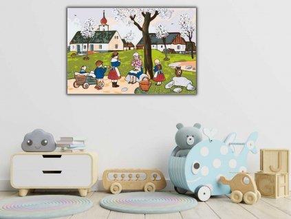 Malování podle čísel - JOSEF LADA - JARO NA VSI