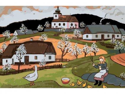 Malování podle čísel - JOSEF LADA - HUSOPASKA