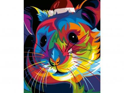 8751 malovani podle cisel barevna cincila ramovani vypnute platno na ram rozmer 80x100 cm