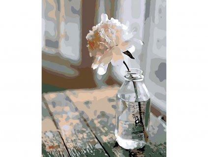 253 malovani podle cisel kvetina v lahvi