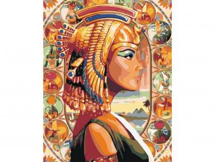 10323 malovani podle cisel kralovna egypta ramovani vypnute platno na ram rozmer 80x100 cm
