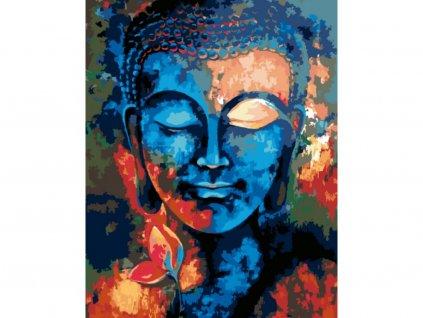 11910 malovani podle cisel barevny buddha ramovani vypnute platno na ram rozmer 80x100 cm (1)
