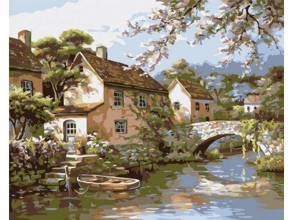 Malování podle čísel - MLÝN (Rozměr 80x100 cm, Rámování vypnuté plátno na rám)