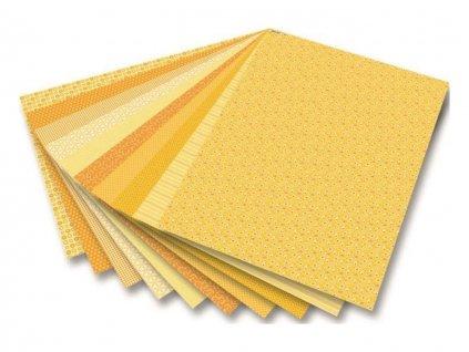 Papír VV motiv A4 A4 / blok / 30 ks / 80 g - 270 g Basics žlutý