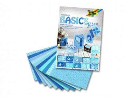 Papír VV motiv A4 / blok / 30 ks / 80 g - 270 g / Basics 30 ls / modrý