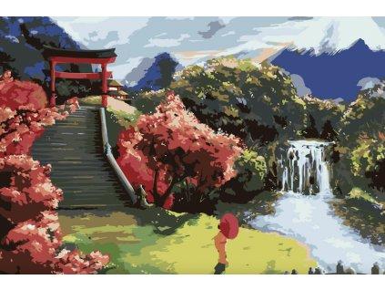 Malování podle čísel - JAPONSKÉ JARO
