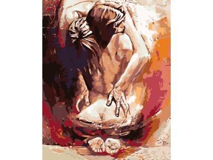 Malování podle čísel - ŽENA V OBJETÍ MUŽE