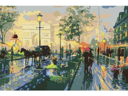 Malování podle čísel - ROMANTICKÁ PROCHÁZKA PAŘÍŽÍ