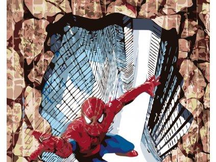 Malování podle čísel - SPIDERMAN 3D (Rámování vypnuté plátno na rám, Rozměr 80x100 cm)