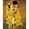 Malování podle čísel - POLIBEK (Gustav Klimt) (Rámování vypnuté plátno na rám, Rozměr 80x100 cm)