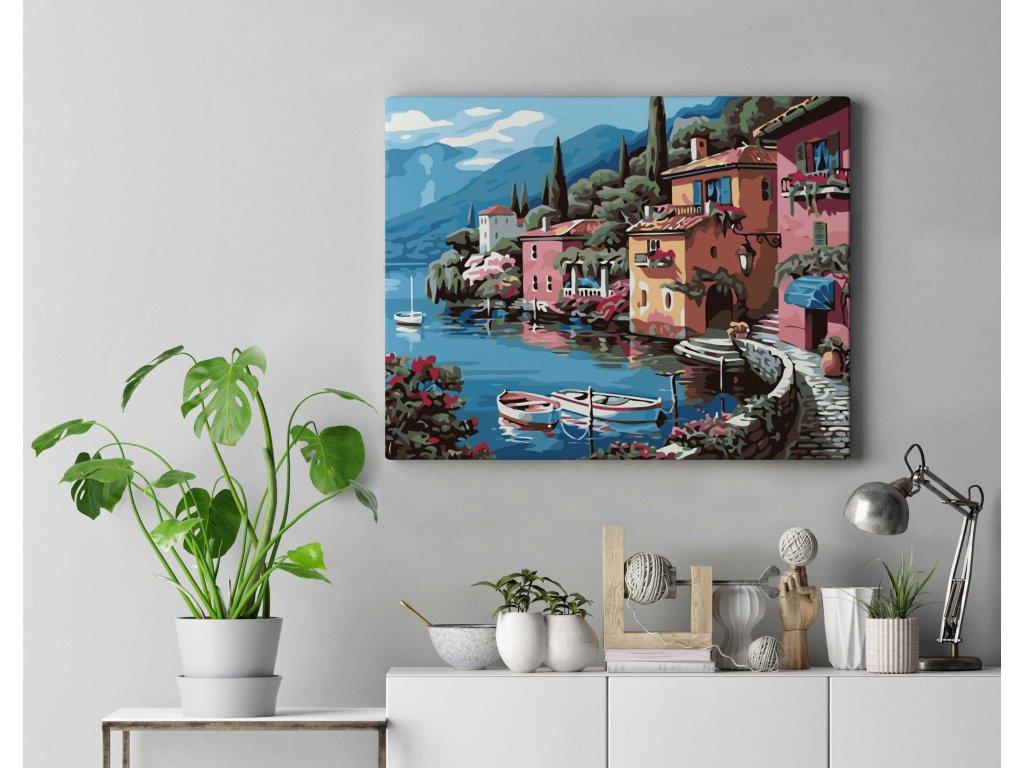 Malování podle čísel - Městečko u moře