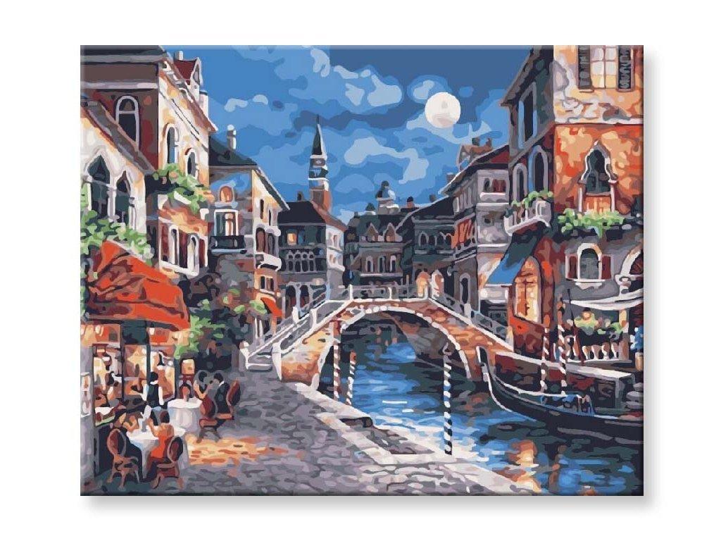 Malování podle čísel - Noční Benátky