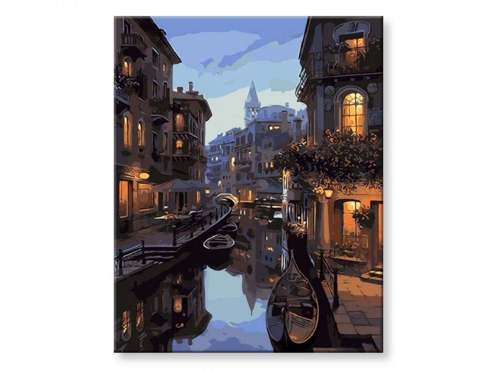 Malování podle čísel - Večerní Benátky