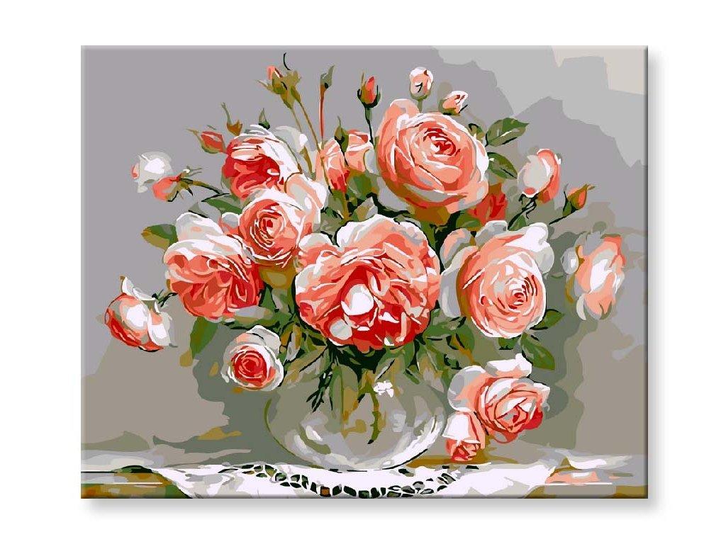 Zátiší s růžemi obraz
