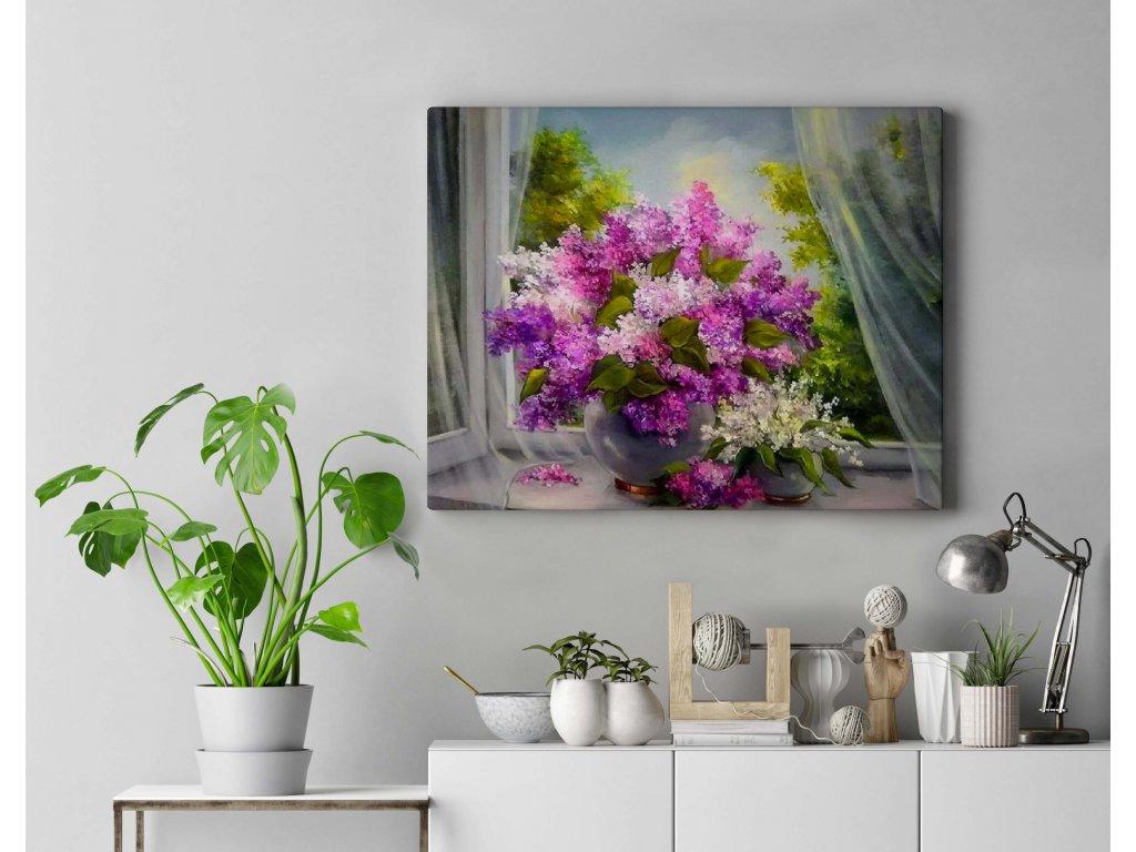 Malování podle čísel - Květina v okně