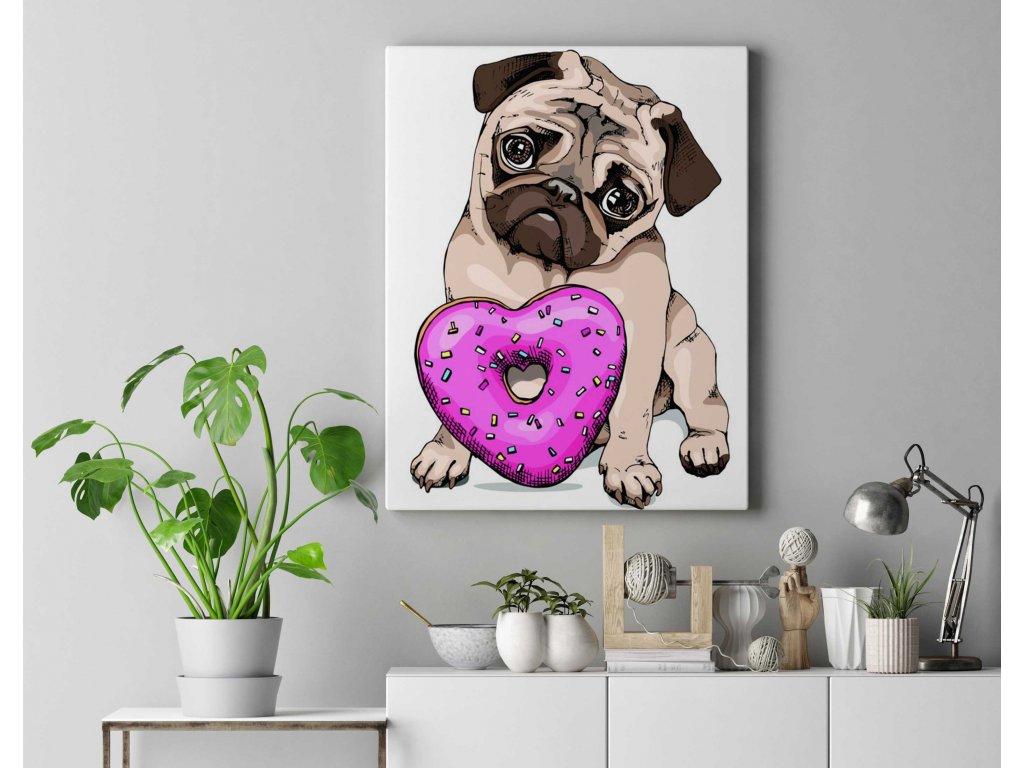 Malování podle čísel - Gangster pes