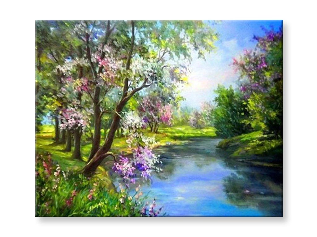 Malování podle čísel - Jarní řeka