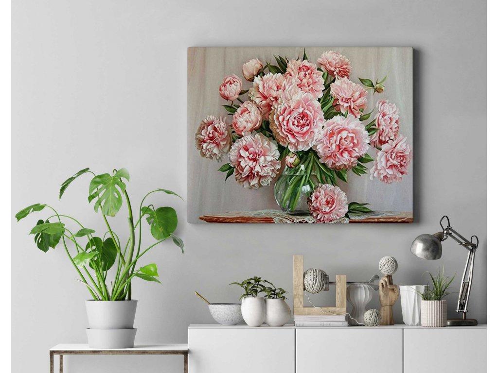 Malování podle čísel - Květiny ve váze
