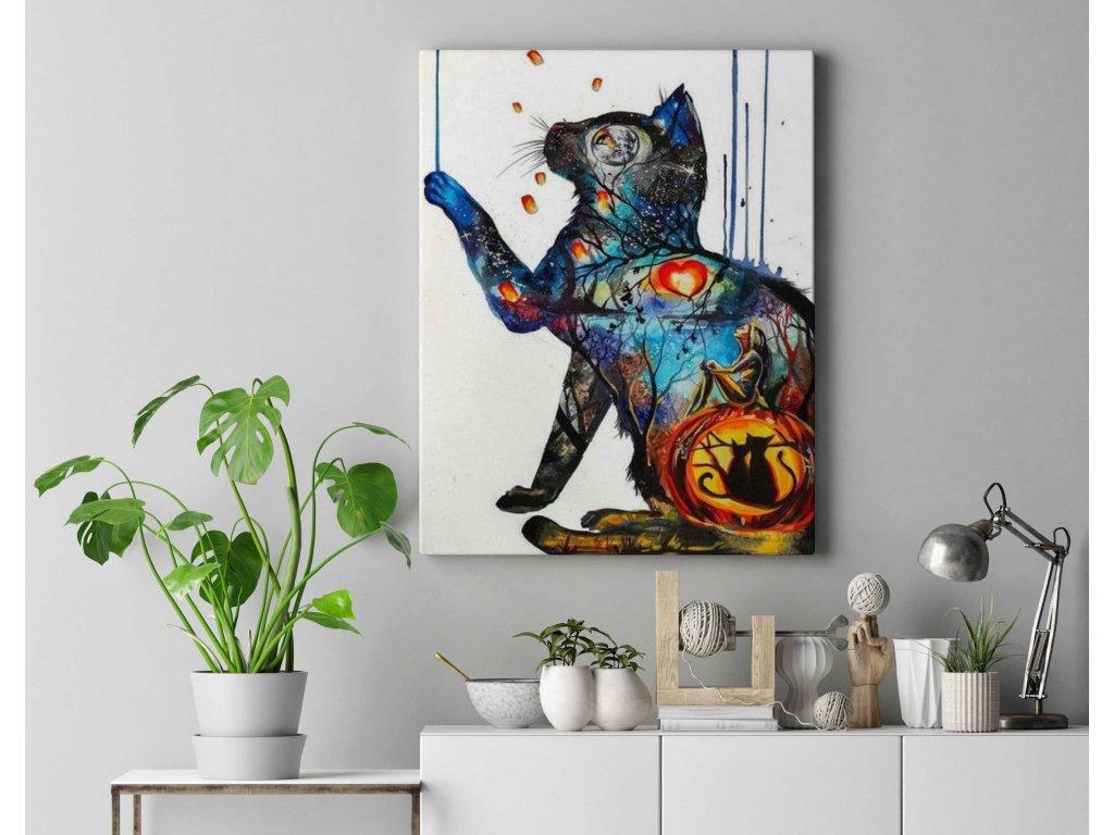 Malování podle čísel - Malovaná kočka