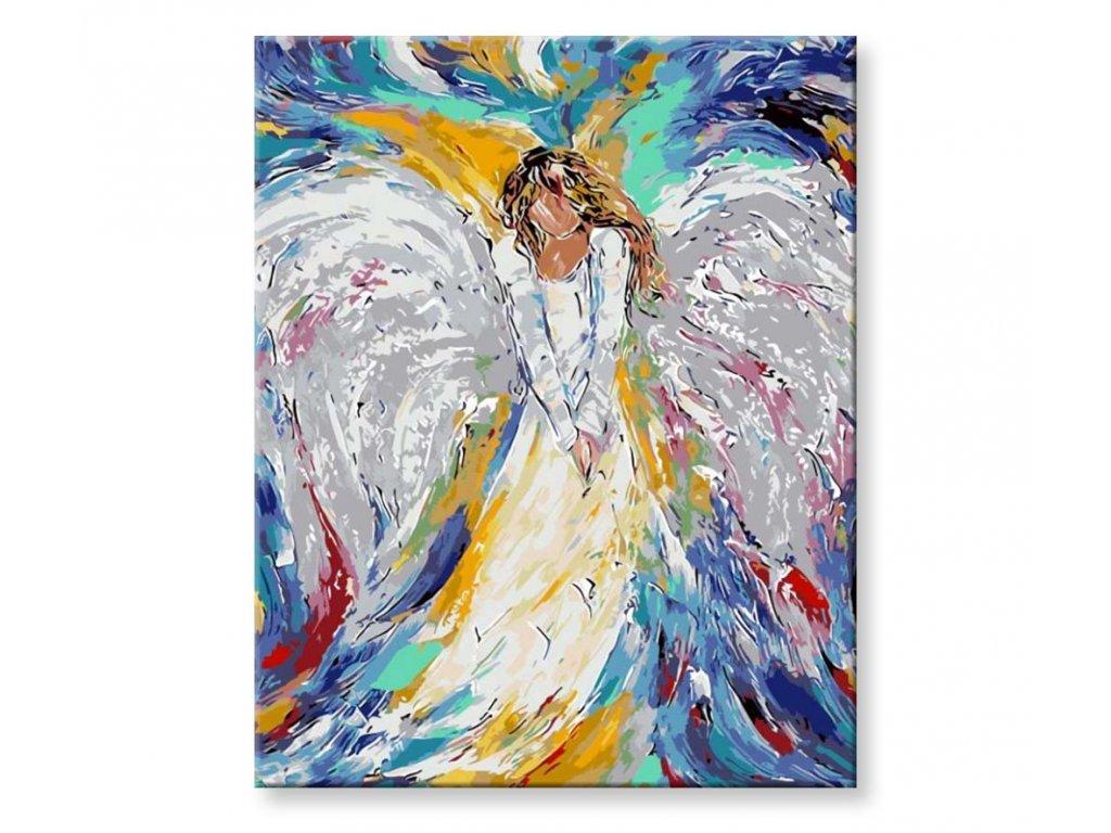 Barevný anděl